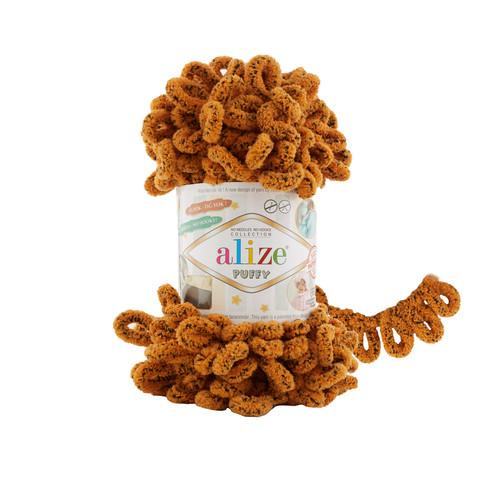 Купить Пряжа Alize Puffy Код цвета 717 Тигр | Интернет-магазин пряжи «Пряха»