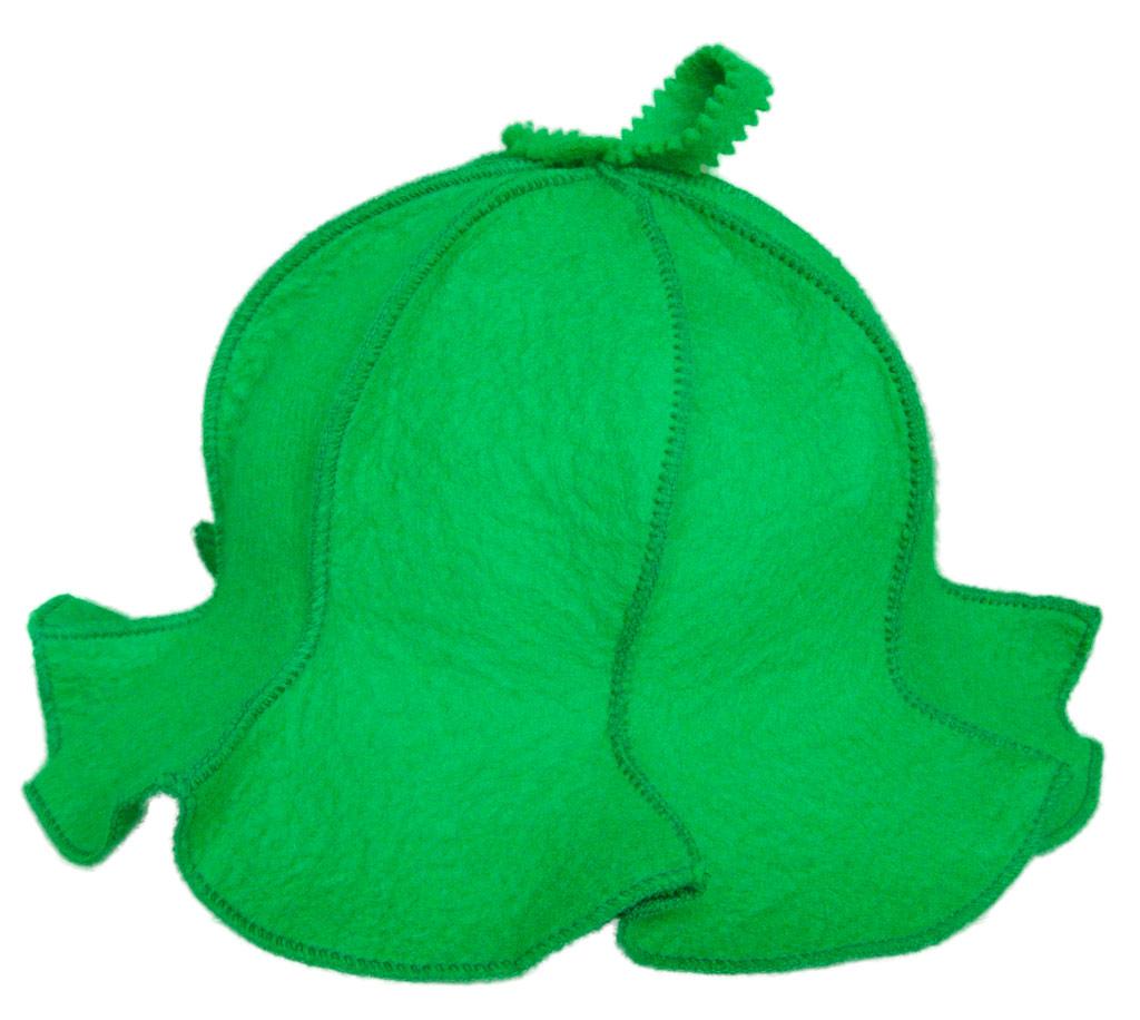 Колпак для бани женский (зеленый)