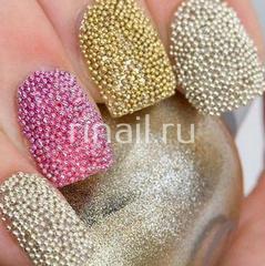 Бульонки для дизайна ногтей, синий