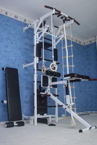 Усиленная шведская стенка с блочным тренажером №8
