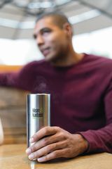 Термобутылка Klean Kanteen TKWide Cafe Cap 16oz (473 мл) Brushed Stainless
