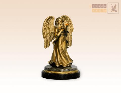 статуэтка Ангел на змеевике
