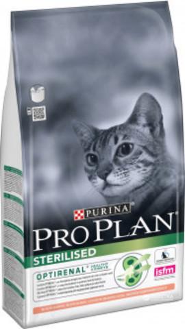 Purina Pro Plan Sterilised feline rich in Salmon dry для стерилизованных кошек с лососем 3 кг