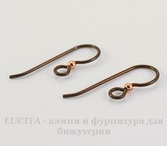 Швензы-крючки TierraCast с шариком 2 мм, 23х8 мм (цвет-античная медь), пара