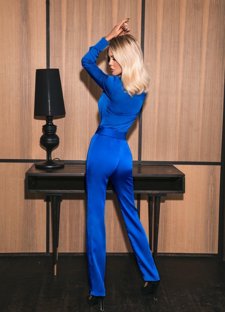 Блуза синяя