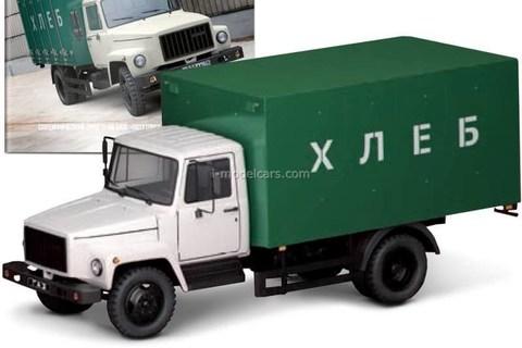 GAZ-3307 van Bread white-green 1:43 DeAgostini Auto Legends USSR Trucks #10