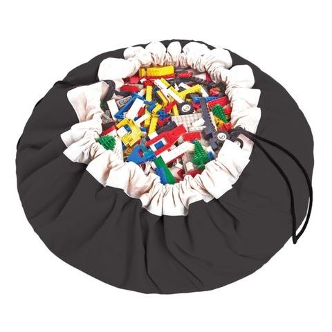 Коврик-мешок для игрушек (2 в 1) Play&Go Classic ЧЕРНЫЙ 40006