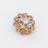 Металлическая пуговица с кристаллами