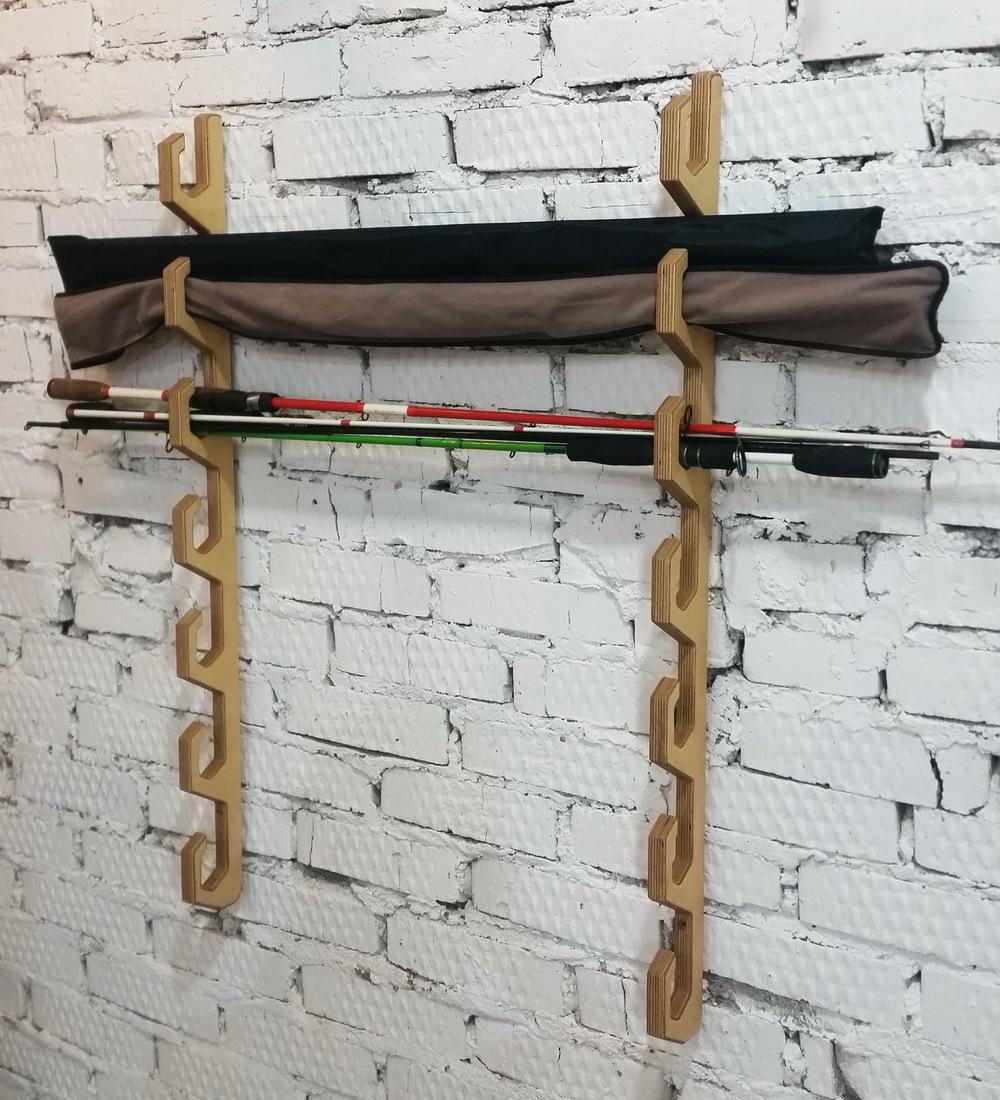 Крепление удочек на стену или на потолок (7 ячеек)