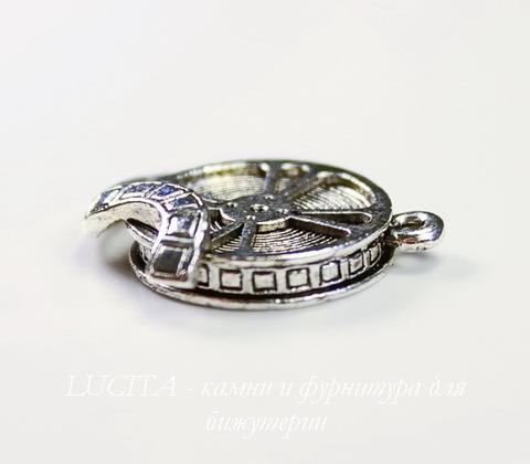 "Подвеска Quest Beads ""Кинопленка"" (цвет-античное серебро) 21х18 мм"