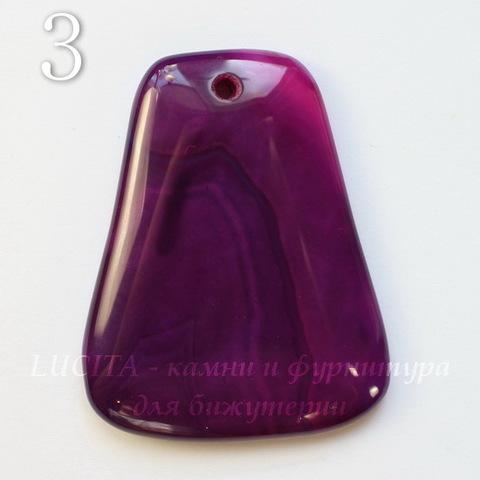 Подвеска Агат (тониров), цвет - фиолетовый, 46-47 мм (№3 (47х39 мм))