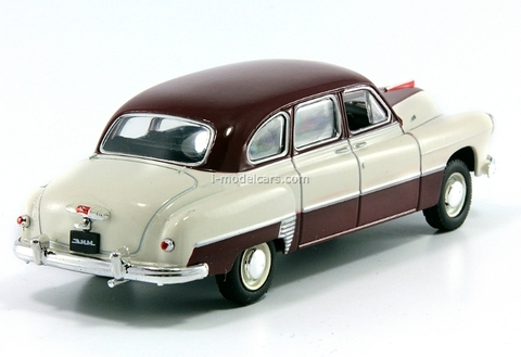 GAZ-12 ZIM-12 beige-darkred 1:43 DeAgostini Auto Legends USSR Best #2