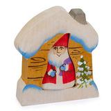 Дед мороз в домике
