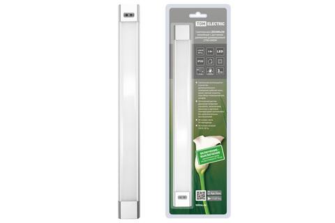 Светильник LED300х30 линейный, 5 Вт, 230 В, датчик движения, диммер, 2700-6000К, TDM
