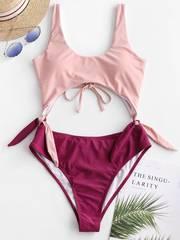 купальник слитный разноцветный розовый винный монокини