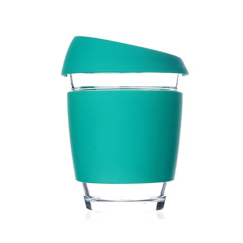 Кружка Coffee Cup из боросиликатного стекла 340 мл. бирюзовый