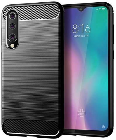 Чехол Xiaomi Mi 9 SE цвет Black (черный), серия Carbon, Caseport