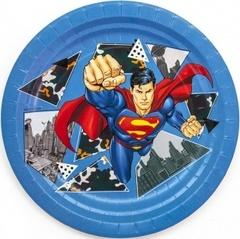 Тарелки бумажные Супермен, 18 см, 6 шт, 1 уп.