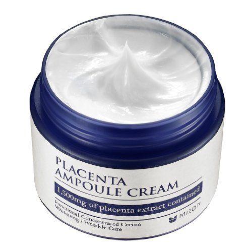 Антивозрастной многофункциональный крем с плацентой | Mizon placenta ampoule cream (50ml)