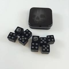 Legion Supplies - Iconic Skull 9 шестигранных кубиков в железной коробочке