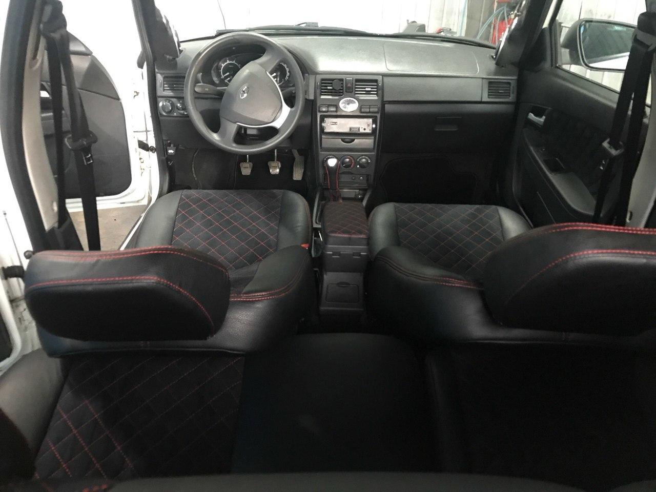Обивки сидений на ВАЗ из экокожи + алькантара, прошитая ромбом или квадратиком