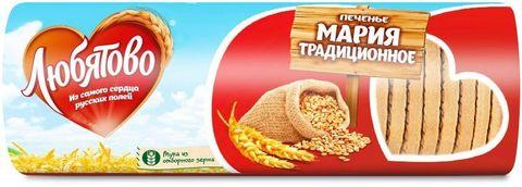 """Печенье Мария """"Любятово"""" Традционное затяжное туба 180гр"""