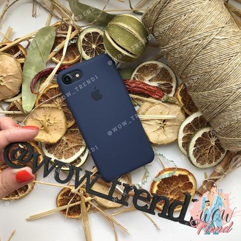 Чехол iPhone 7/8 Silicone Case /midnight blue/ темно-синий original quality