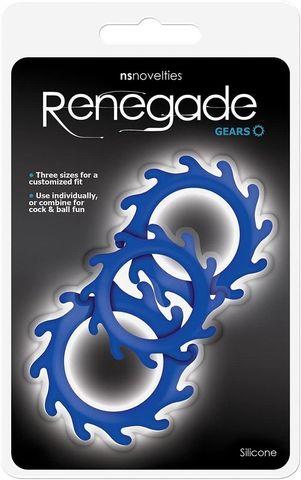 Набор из 3 синих эрекционных колец Renegade Gears