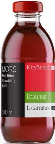 Mr.Djemius Морс ягодный с L-карнитином Клубника-Базилик 330мл.