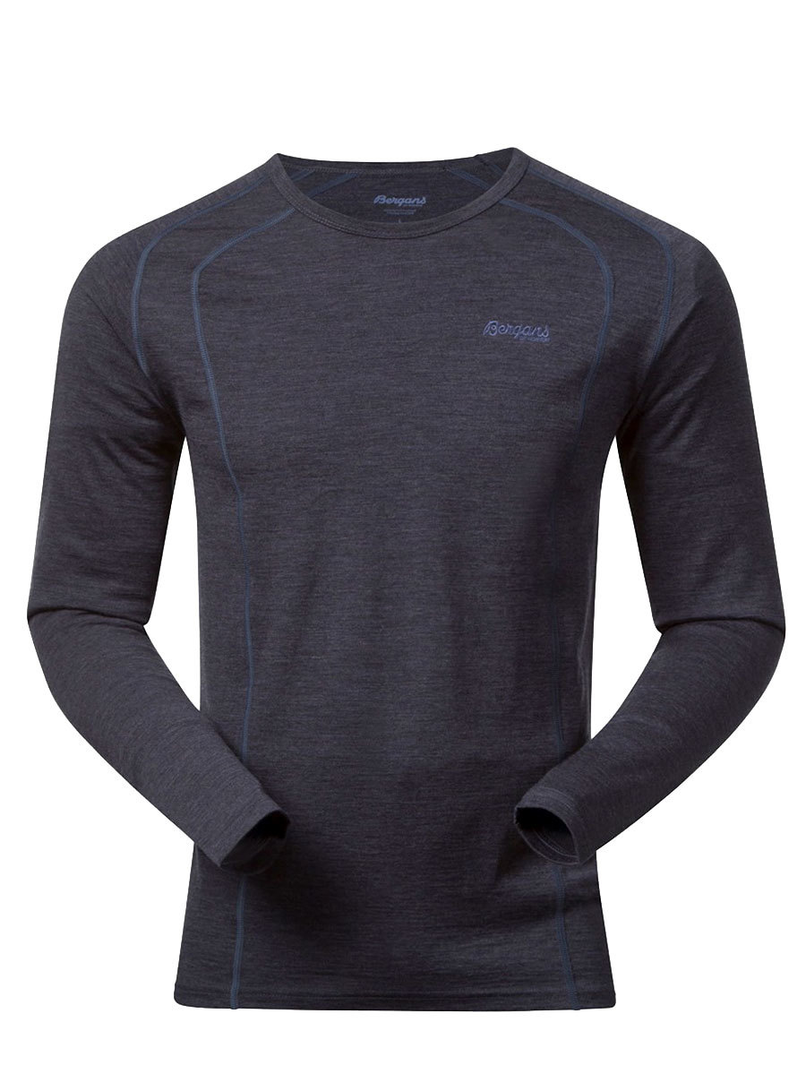 Bergans термобелье футболка 1964 Fjellrapp Shirt Night Blue Melange