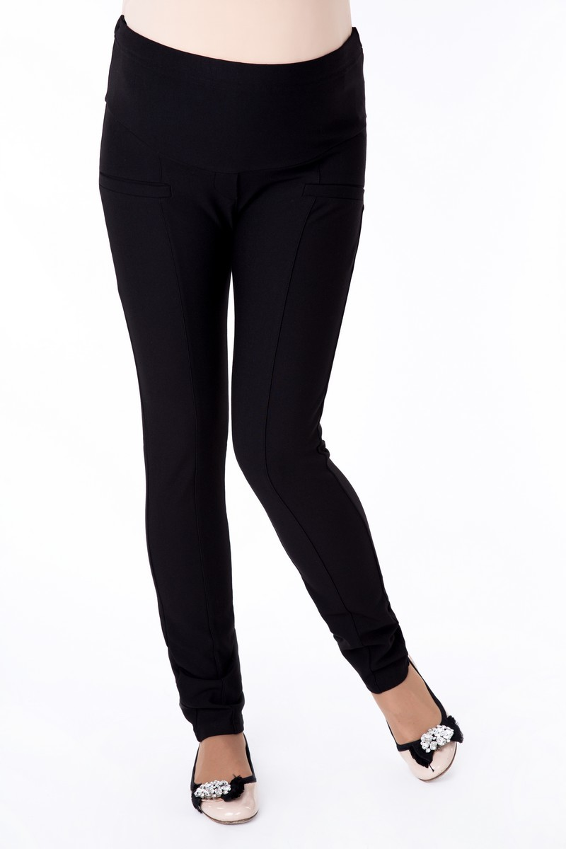 Утепленные брюки для беременных 03442 черный