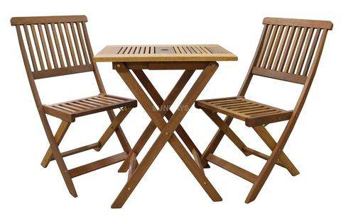Комплект садовый мебели из акации Sundays KOBE 89339/89338, стол и 2 стула