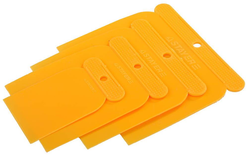 Набор шпателей STAYER ЯПОНЧИК, пластмассовые, 4шт: 50, 80, 100, 120 мм