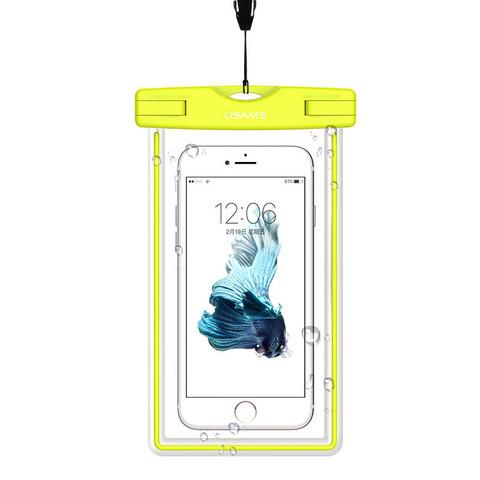 Чехол водонепроницаемый Usams для телефона до 5.5 /green/ YD001