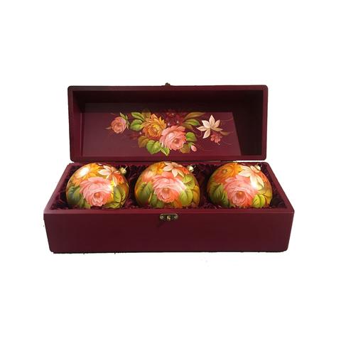 Набор из 3 елочных шаров в шкатулке SET04D-667785848