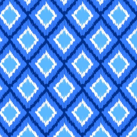 Синие ромбы, икат