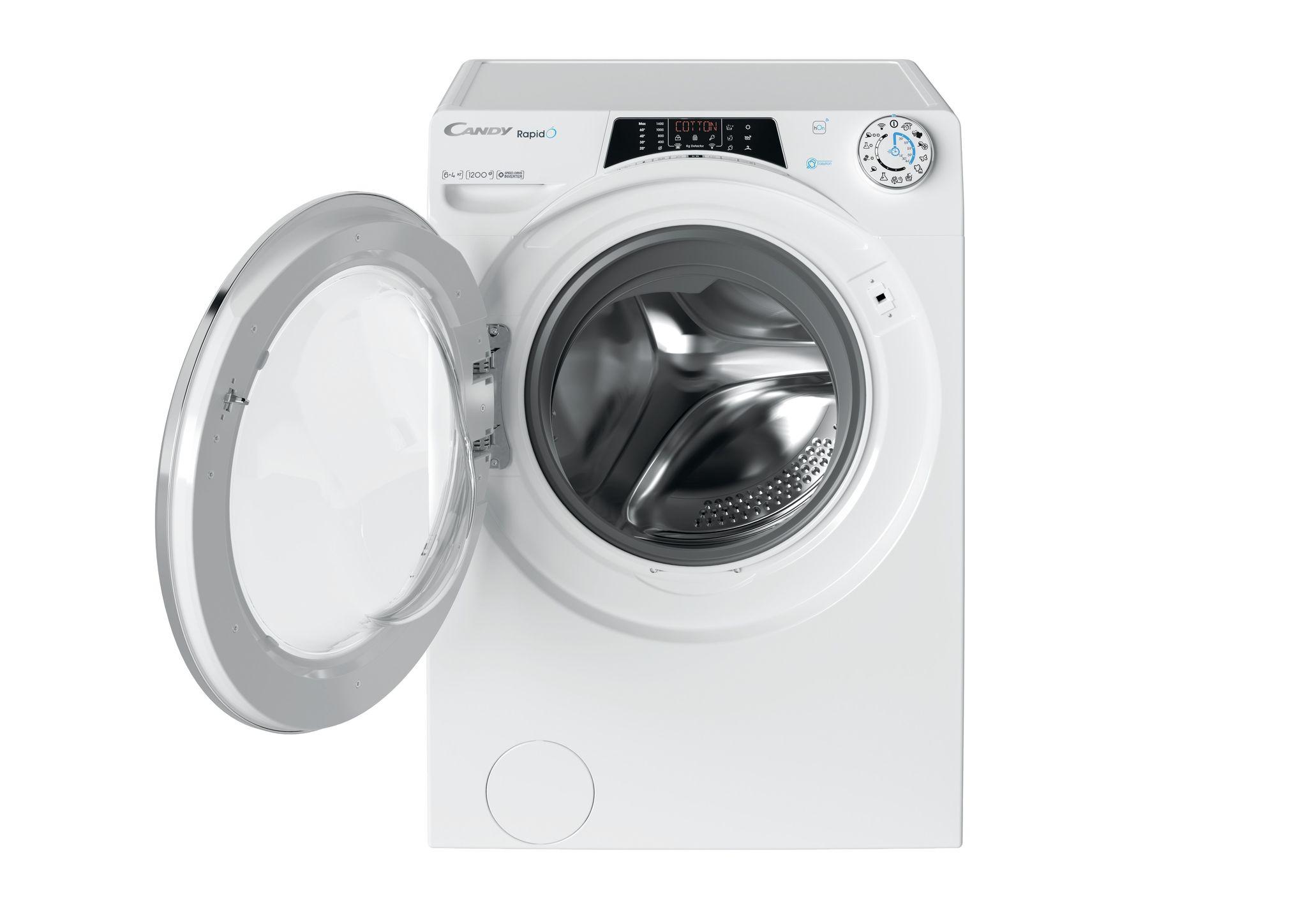 Узкая стиральная машина с сушкой Candy RapidO ROW42646DWMC-07 фото 4