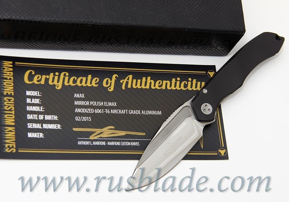 "Marfione Custom Anax Black Aluminum (3.75"" Mirror)"