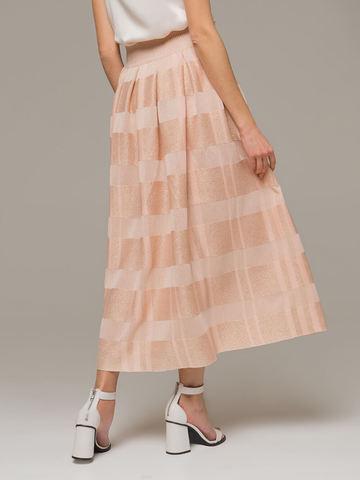 Женская юбка миди персикового цвета - фото 2