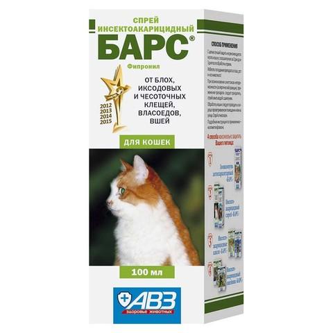 Барс спрей инсектоакарицидный для кошек 100мл