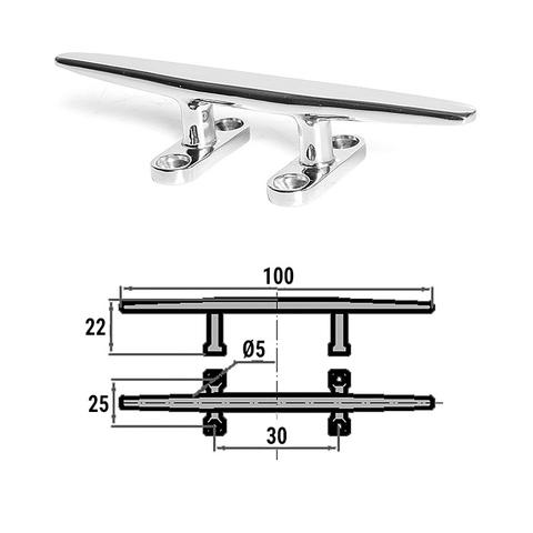 Утка швартовая 100 мм, сталь