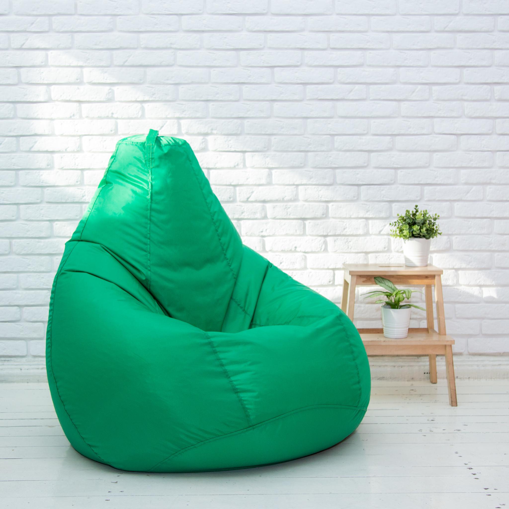 Кресло-мешок-Груша-XL-зелёная