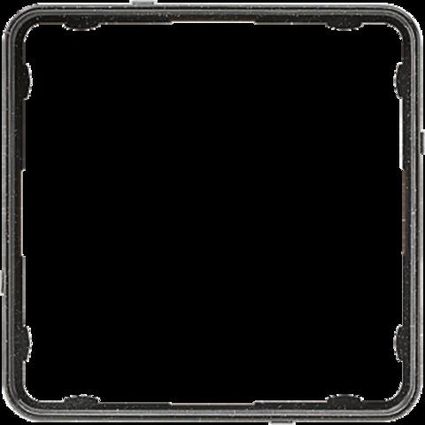 Внутренняя цветная рамка. Цвет Чёрный металлик. JUNG CD PLUS. CDP81SWM