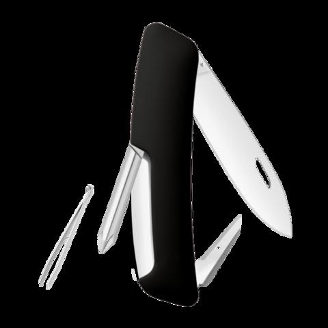 Уценка! Швейцарский нож SWIZA D02 Standard, 95 мм, 6 функций, черный