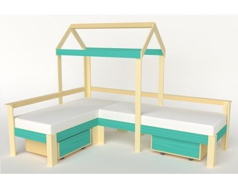 Кровать-домик АВАРА-7 правая