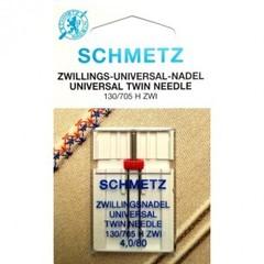 Фото: Игла Twin universal 130/705 H ZWI SCS №1-4,0/80