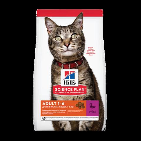 Hill's Science Plan Adult Duck Сухой корм для взрослых кошек для поддержания жизненной энергии и иммунитета с Уткой