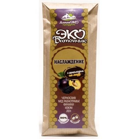Экобатончик с шоколадом на меду «Наслаждение» 45 г