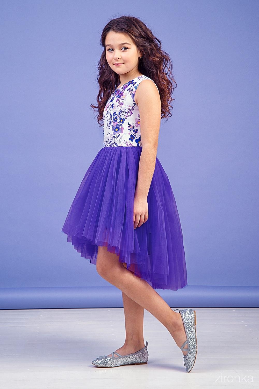 Платье фиолетовое для девочки 38-9004-4