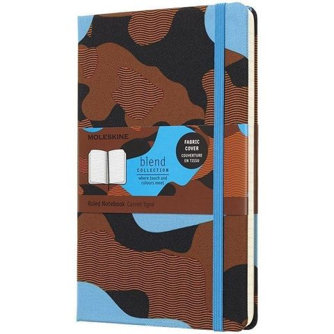 Блокнот Moleskine Limited Edition BLEND LGH LCBD03QP060CAMOC2 Large 130х210мм обложка текстиль 240стр. линейка Camouflage blue